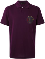 Versace gladiator badge polo shirt - men - Cotton - S