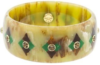 Mark Davis 18kt Gold Bakelite Geometric Bangle Bracelet