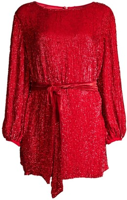 retrofete Grace Sequined Split Back Mini Dress