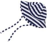 """Zutano Primary"""" Striped Sun Hat (Baby) - Navy/White-18 Months"""