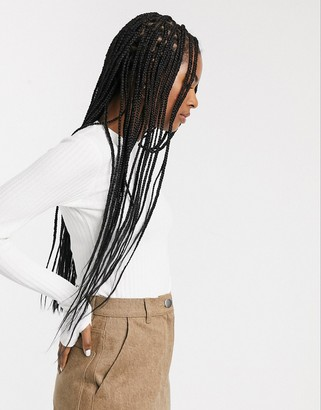 Asos long sleeved rib bodysuit