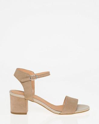Le Château Italian-Designed Suede Ankle Strap Sandal
