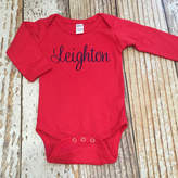 Etsy Baby girl monogrammed top, baby boy monogrammed top, monogrammed bodysuit, baby shower gift, coming