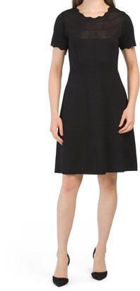 Short Sleeve Pointelle Sweater Dress