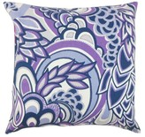 Michal Floral Throw Pillow Cover The Pillow Collection Color: Plum