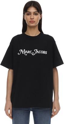 Marc Jacobs Embellished Logo Jersey T-shirt