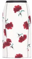 Oscar de la Renta Floral-printed Silk Skirt