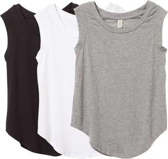 Alternative Women's Luxe Cap Sleeve Crew Tee Bundle Set