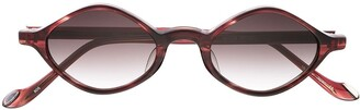 Matsuda Tortoiseshell-Effect Round-Frame Sunglasses
