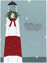 Smudge Ink Light House Christmas Quote Card