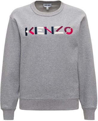 Kenzo Sweatshirt With Multicoloured Embroidered Logo