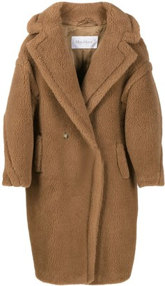Max Mara Textured Oversized Double Breasted Coat