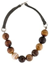Brunello Cucinelli Agate Bead Short Necklace