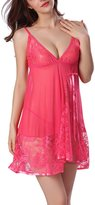 YMING Womens Sexy Sleepwear Set Lace Splicing Staps Chemises XL