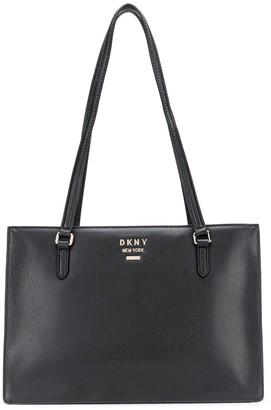 DKNY large logo tote bag