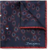 Dolce & Gabbana - Printed Silk Pocket Square