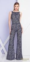 Terani Couture Waist Embellished Sleeveless Lace Jumpsuit