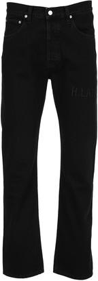 Helmut Lang Monogram High-Rise Straight Jeans