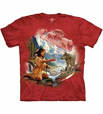 The Mountain Drms of Wolf Spirit Adult Woman's T-Shirt