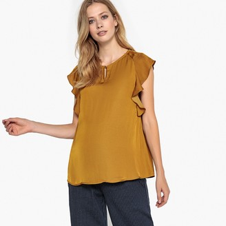 La Redoute Collections Maternity Blouse with Ruffled Sleeves
