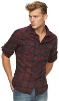 Rock & Republic Men's Plaid Flannel Button-Down Shirt