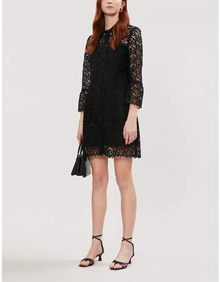 Sandro Sylvia collared lace shirt dress
