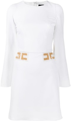 Elisabetta Franchi Beaded Logo Belt Dress
