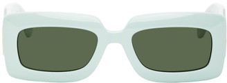 Gucci Green Thick Rectangular Injection Sunglasses
