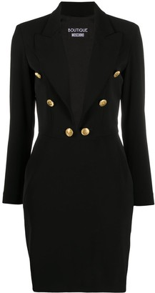 Boutique Moschino Tailored Long-Sleeve Dress