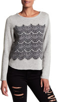 Joie Rosaleen Lace Cashmere Sweater