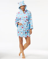 PJ Couture Ears Up Hooded Plush Robe
