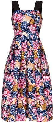 Mary Katrantzou Crystal floral print midi dress