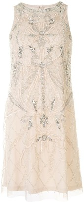 Aidan Mattox Sequin Embroidered Mini Dress