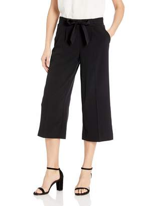 My Michelle Leighton By Women's Classic Wide Leg Cropped Trouser Pant