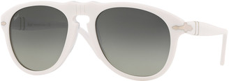 Persol Men's Gradient Translucent Keyhole Aviator Sunglasses