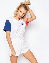 Le Coq Sportif Oversized Boyfriend Color Block T-Shirt