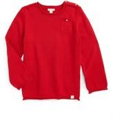 Toddler Boy's Burt's Bees Baby Pocket Organic Cotton Sweater