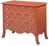 Bassett Mirror Company L'Orangerie 3-Drawer Chest in Tangerine