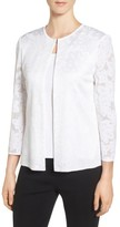 Ming Wang Women's Jacquard Knit Collarless Jacket