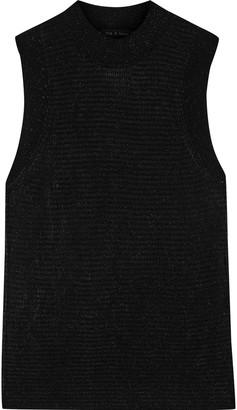 Rag & Bone Raina Metallic Striped Stretch-knit Top