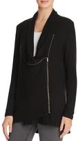 Velvet by Graham & Spencer Cozy Jersey Drape Zip Jacket
