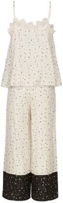Ethereal London Ivory Kaya Loungewear Cropped