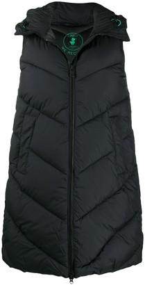 Save The Duck Chevron-Quilt Sleeveless Puffer Jacket