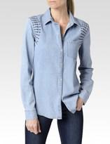 Paige Pari Shirt - Avenida Embroidered