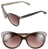 Ted Baker Women's 56Mm Cat Eye Sunglasses - Black