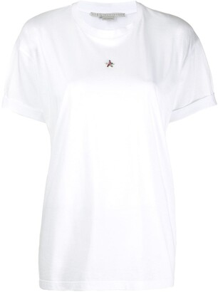 Stella McCartney crystal-embellished T-shirt