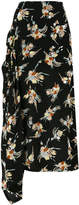 Marni abstract print full skirt