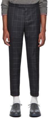 Thom Browne Grey Windopane Side Tab Trousers