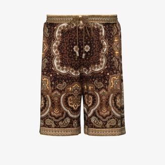 Nanushka Doxxi paisley print shorts