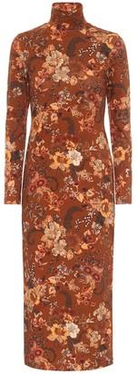 Balenciaga Floral stretch-cotton midi dress